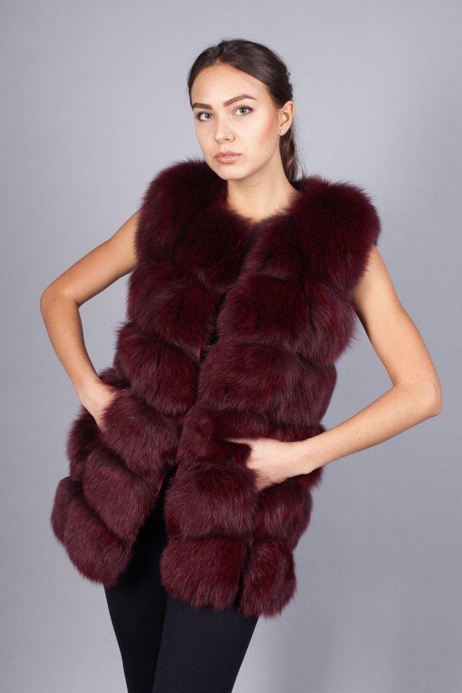 Купить меховой жилет недорого Москва