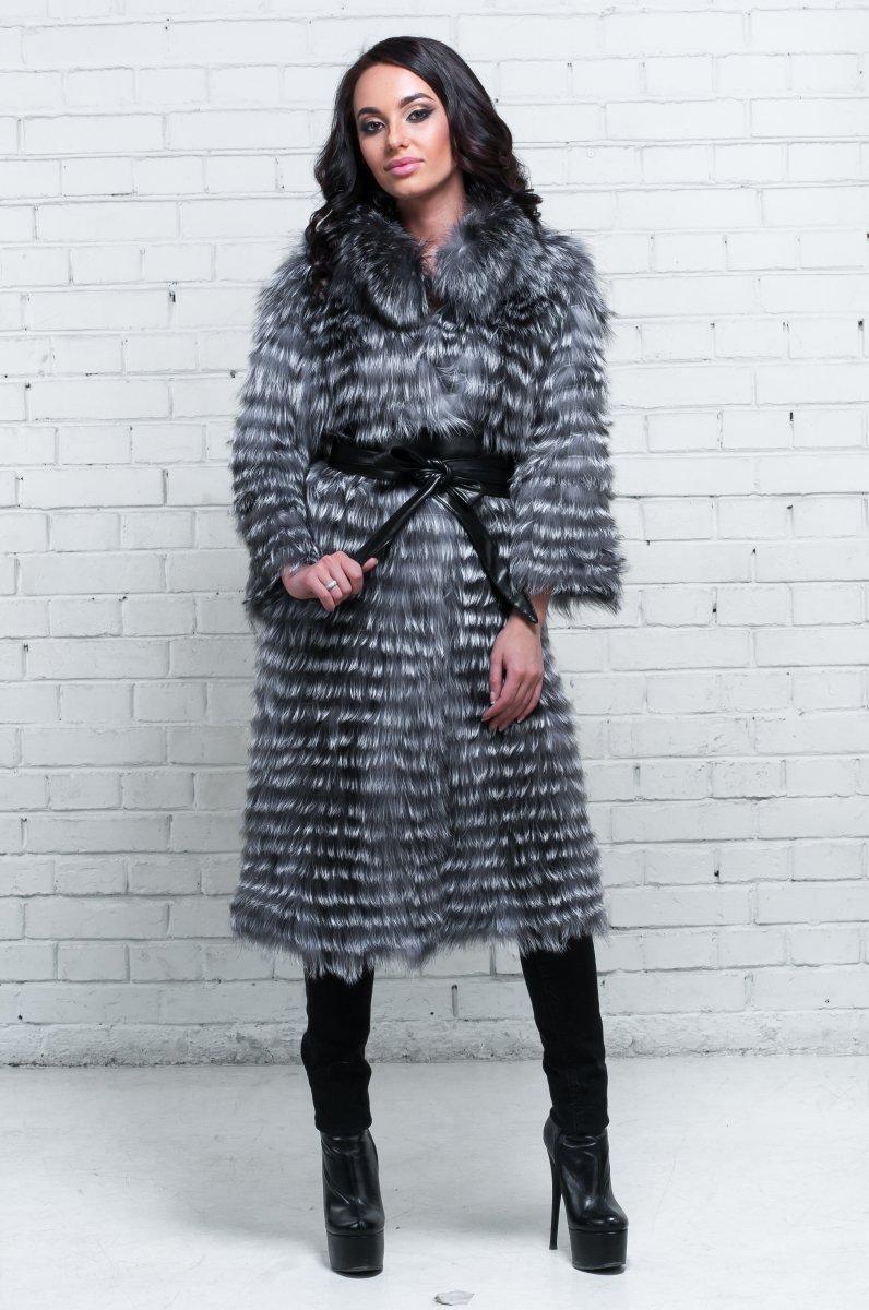 меховое пальто из чернобурки 131