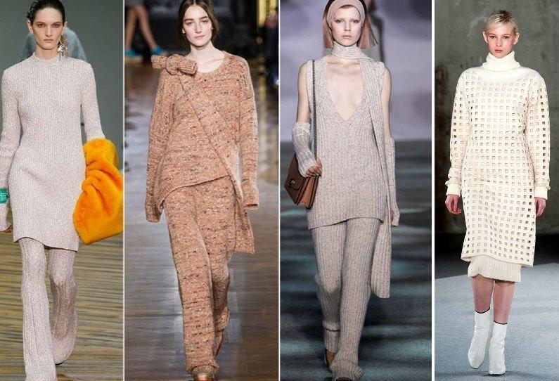 Модные вязанные платья этой зимы